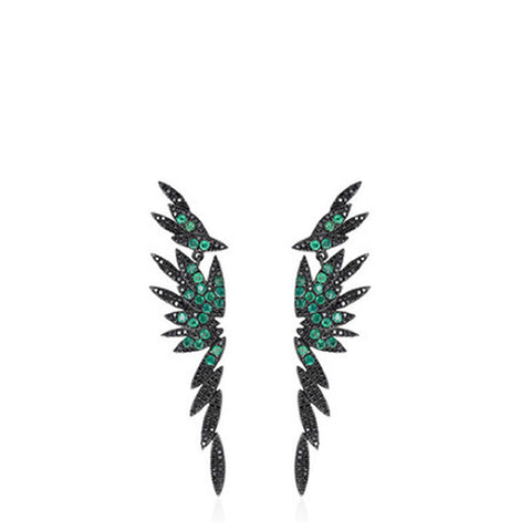 """Bamboo"" Long Stud Earrings - ARCHIVES"