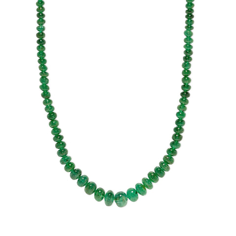 """RICH EMERALD BEAD"" NECKLACE"