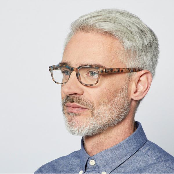 """B"" Blue Tortoise Reading Glasses"