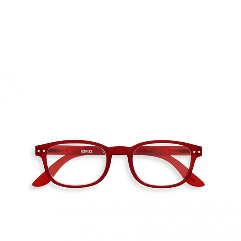 """B"" Red Crystal Reading Glasses"