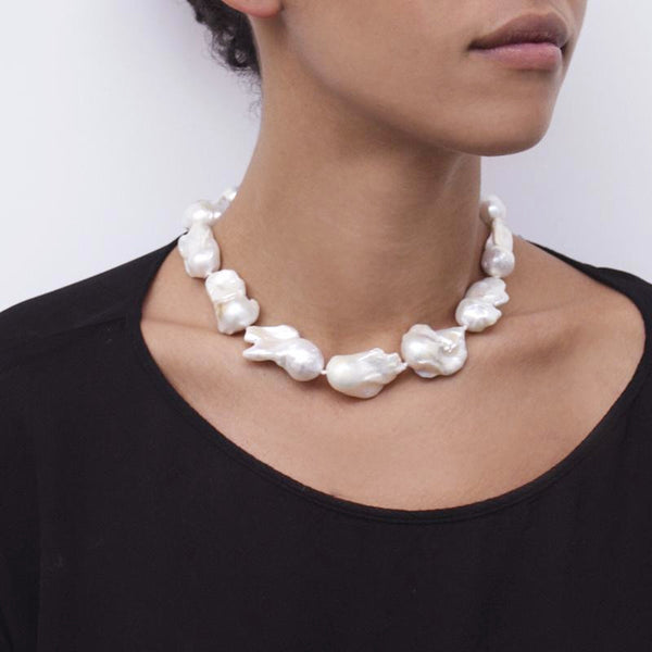"""Large Baroque Pearl"" Necklace"