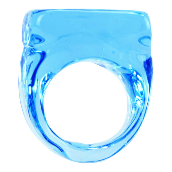 """Ice Cube Aquamarine Glass"" Ring - ARCHIVES - 2"