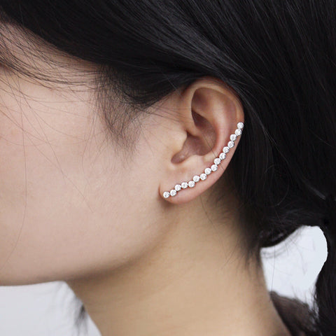 ear crawler, mono earring, fashion jewellery, vermeil, women