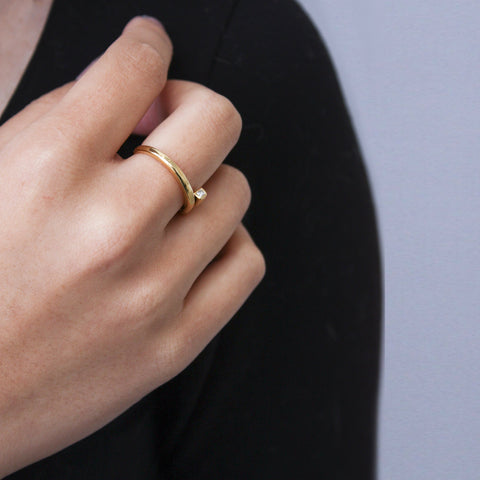 """Fluid"" 18K Gold Ring"