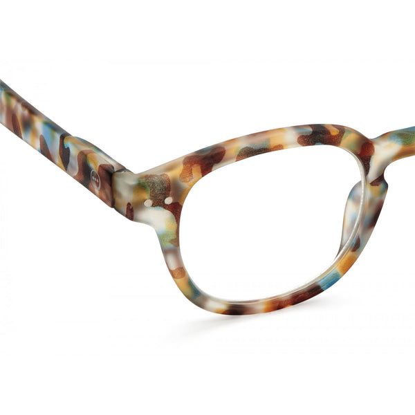 """C"" Blue Tortoise Reading Glasses"