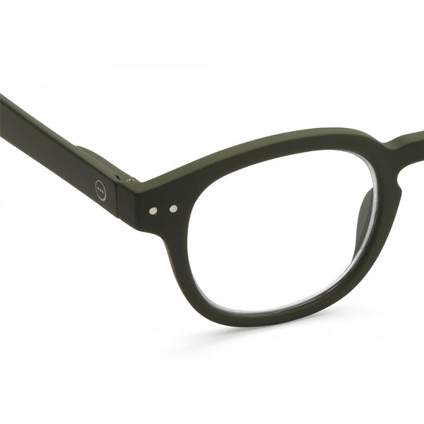 """C"" Kaki Green Reading Glasses"