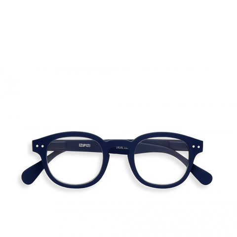 """C"" Navy Blue Reading Glasses"