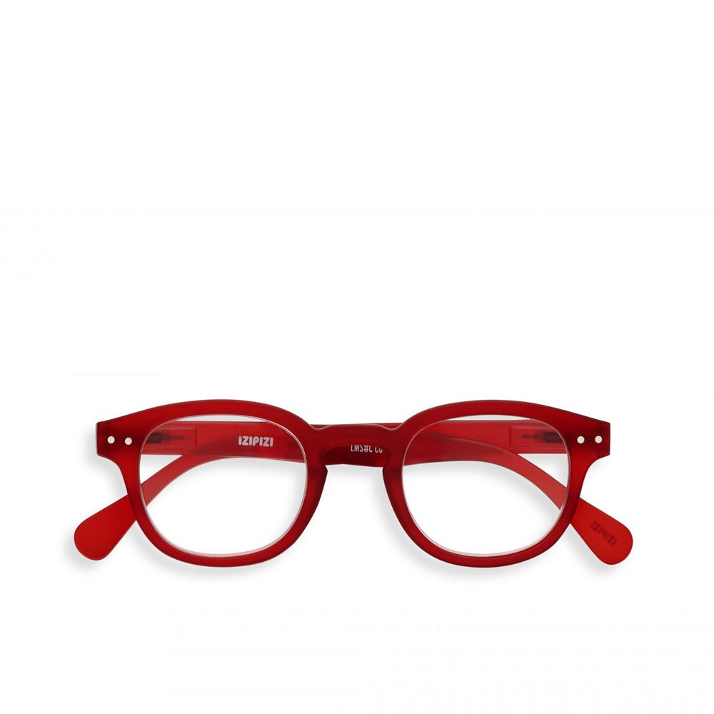 """C"" Red Crystal Reading Glasses"