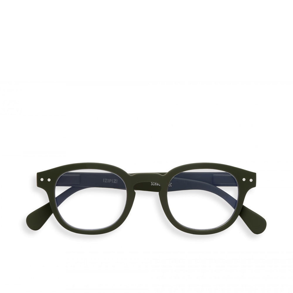 """C"" Kaki Screen Reading Glasses"