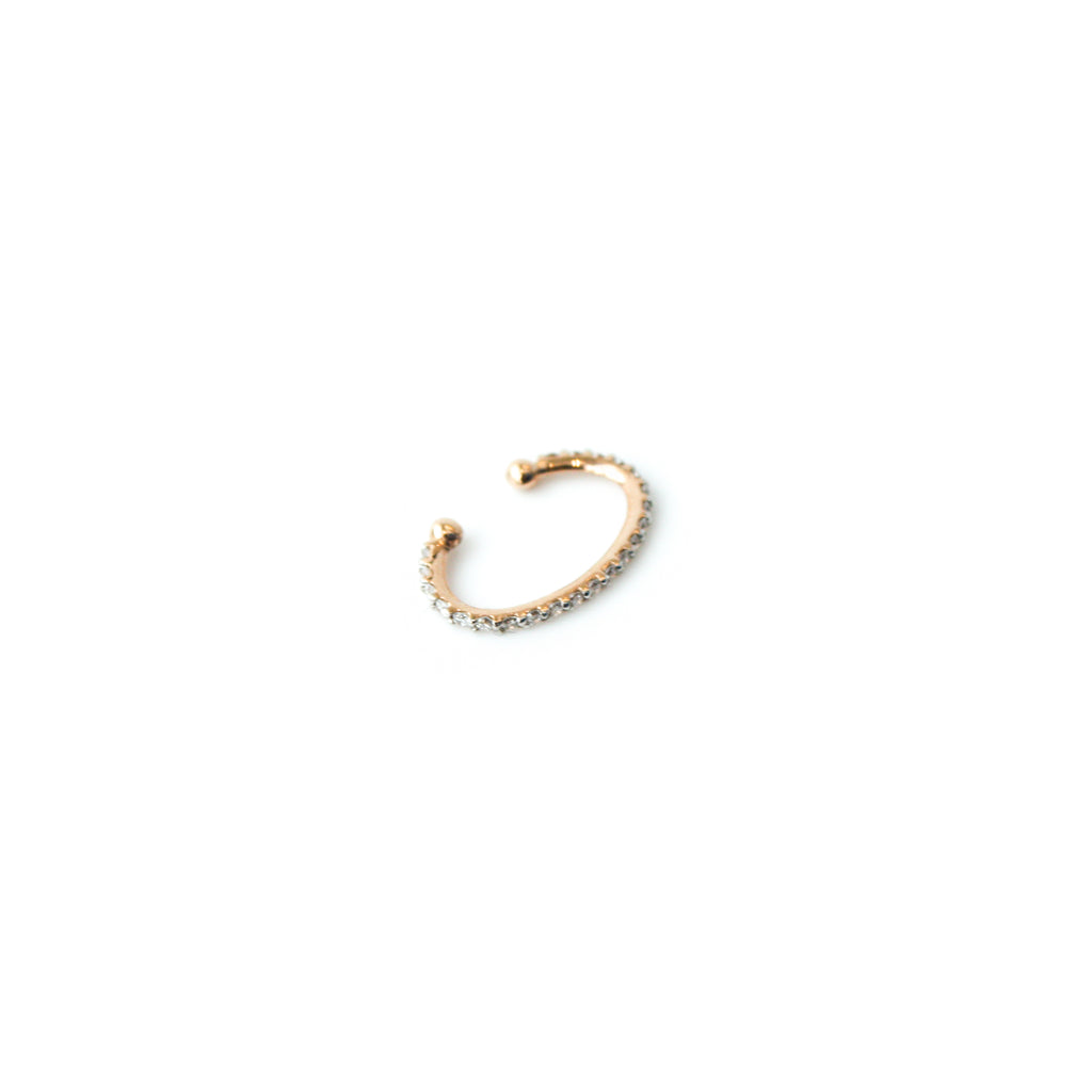 """White Diamond Circle Cuff"" Earring"