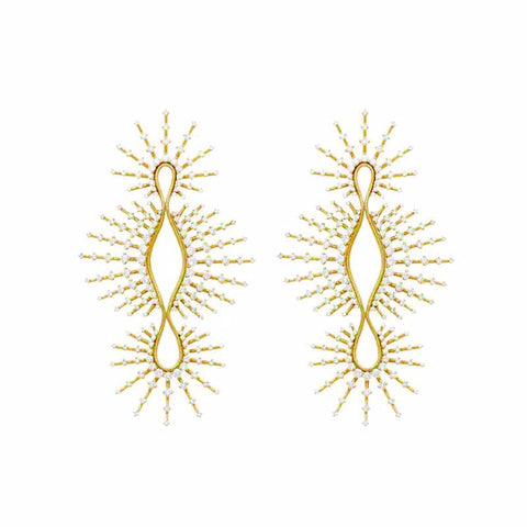 """Clarity"" 18k Yellow Gold and Diamonds Earrings"
