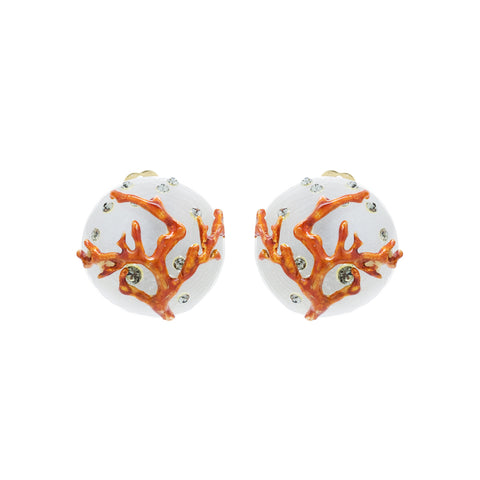 """Coral Clip-On"" Earrings"