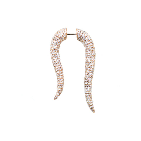 """White Diamonds Corne"" Earring"