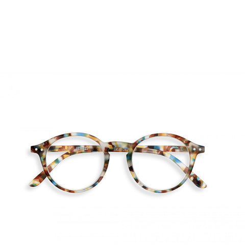 """D"" Blue Tortoise Reading Glasses"