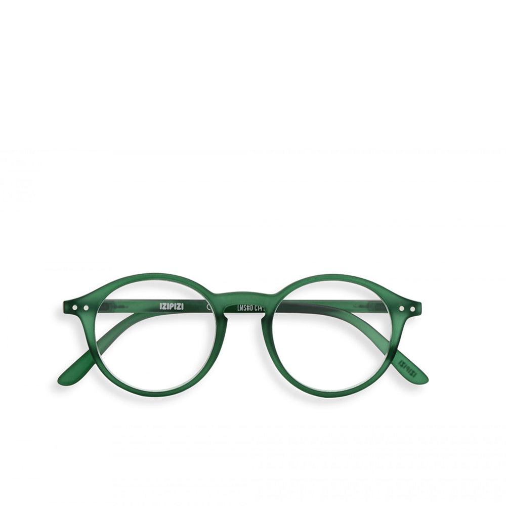 """D"" Green Crystal Reading Glasses"