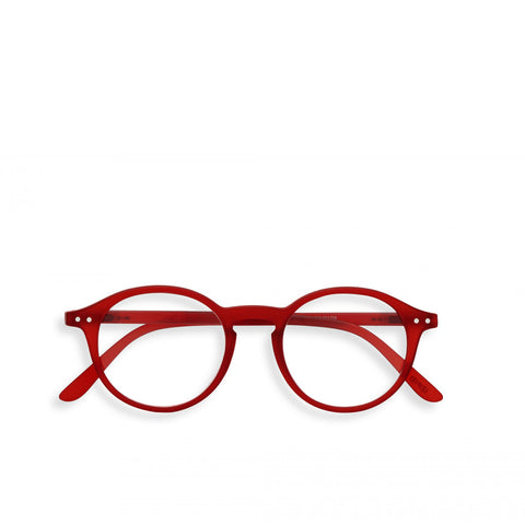 """D"" Red Crystal Reading Glasses"