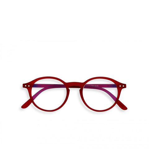 """D"" Red Crystal SCREEN Reading Glasses"