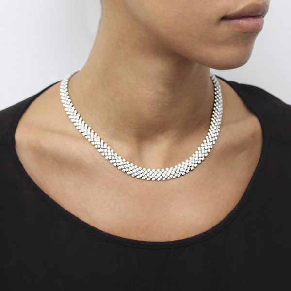 DIAMOND & 18K GOLD NECKLACE