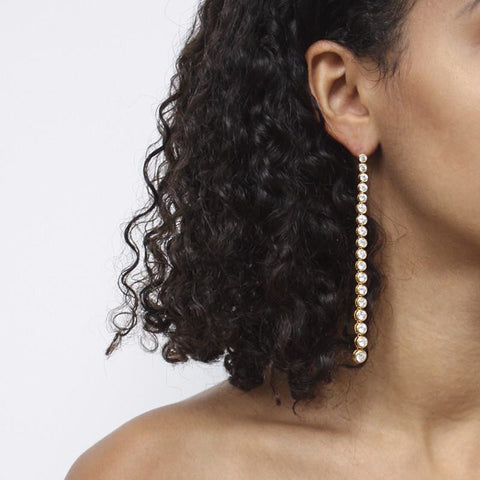 """Diamond Drop"" 18K Gold Earrings"