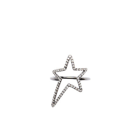 """STAR"" 18K GOLD RING"