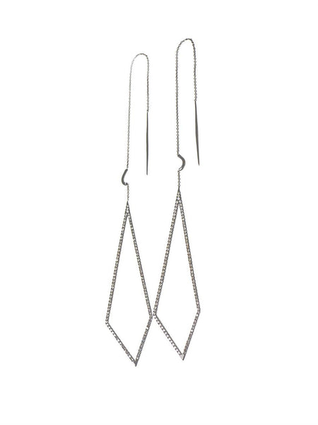 """Triangular Drop"" 18k Gold Earrings - ARCHIVES - 2"