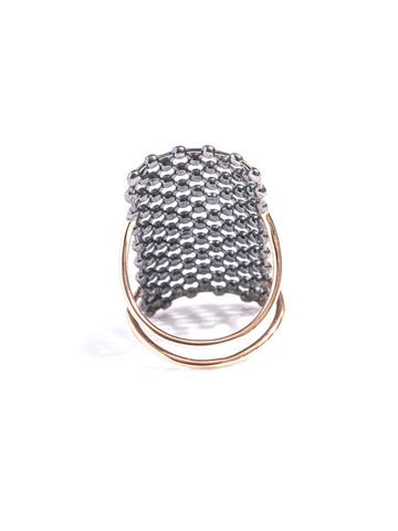 """Rectangle Mesh"" 18k Gold Ring - ARCHIVES ltd - 2"