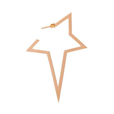 """LARGE STAR"" 18K ROSE GOLD MONO EARRING"