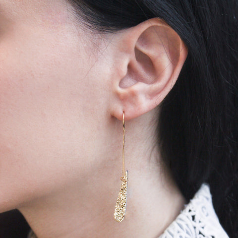 """18k Gold Drusy"" Earrings"