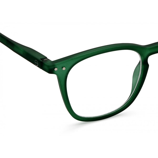 """E"" Green Crystal Reading Glasses"