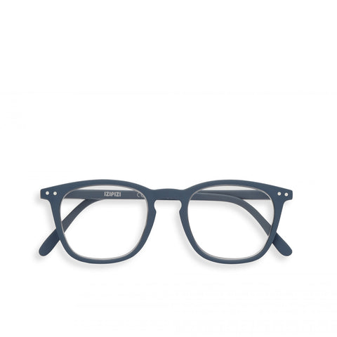 """E"" Grey Reading Glasses"