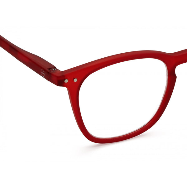 """E"" Red Crystal Reading Glasses"