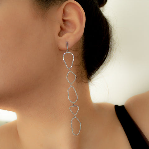 """Oval Drops"" Earrings"