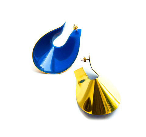 """Big Anish Earrings"" Blue"