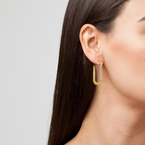 """ÉERA"" BIG YELLOW GOLD MONO EARRING"