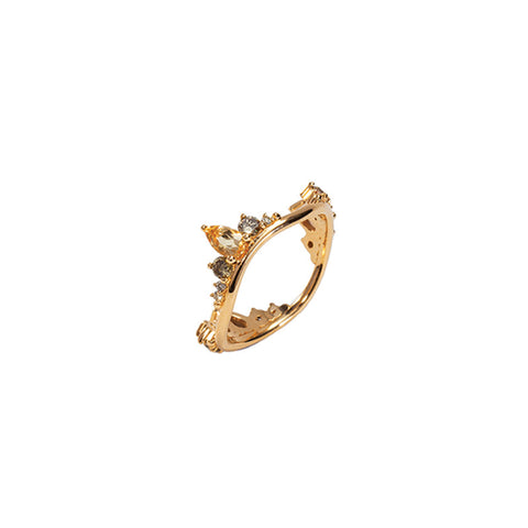 """Electric Wave"" 18k Gold Ring"