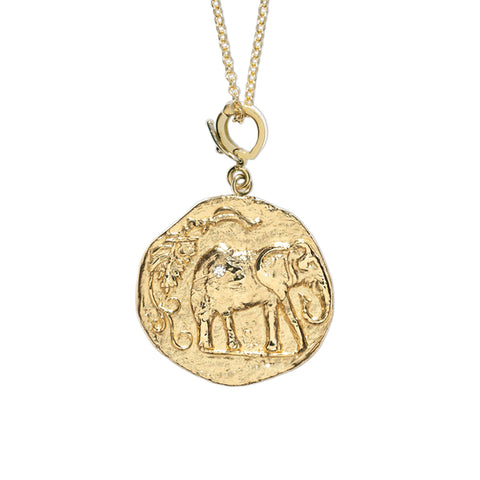 """ELEFANTE SMALL DIAMOND COIN"" NECKLACE"