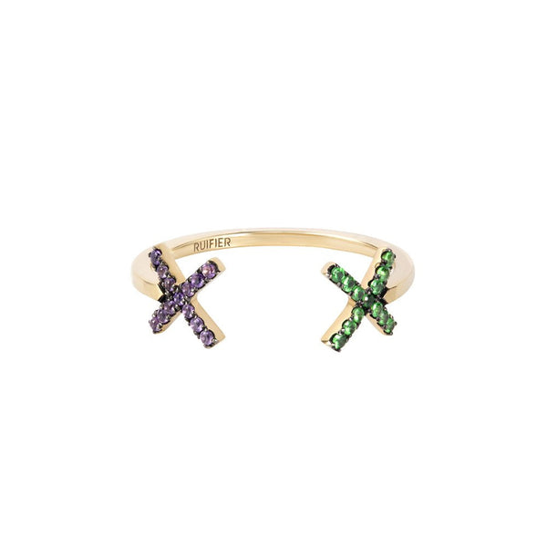 """ELEMENTS CROSS"" 18K GOLD RING"