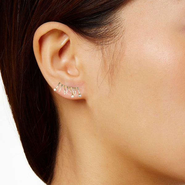 """J'adore Earring"" Gold Ear Crawler"