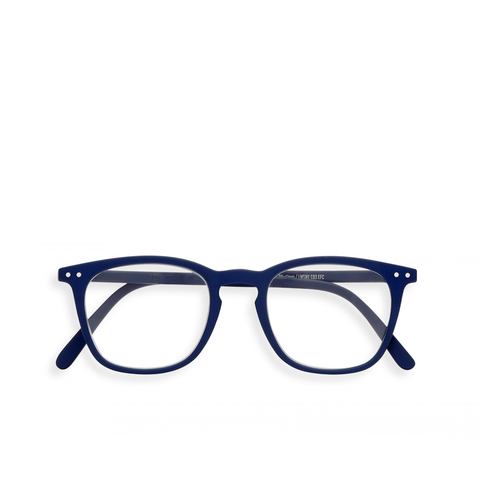 """E"" Navy Blue Reading Glasses"