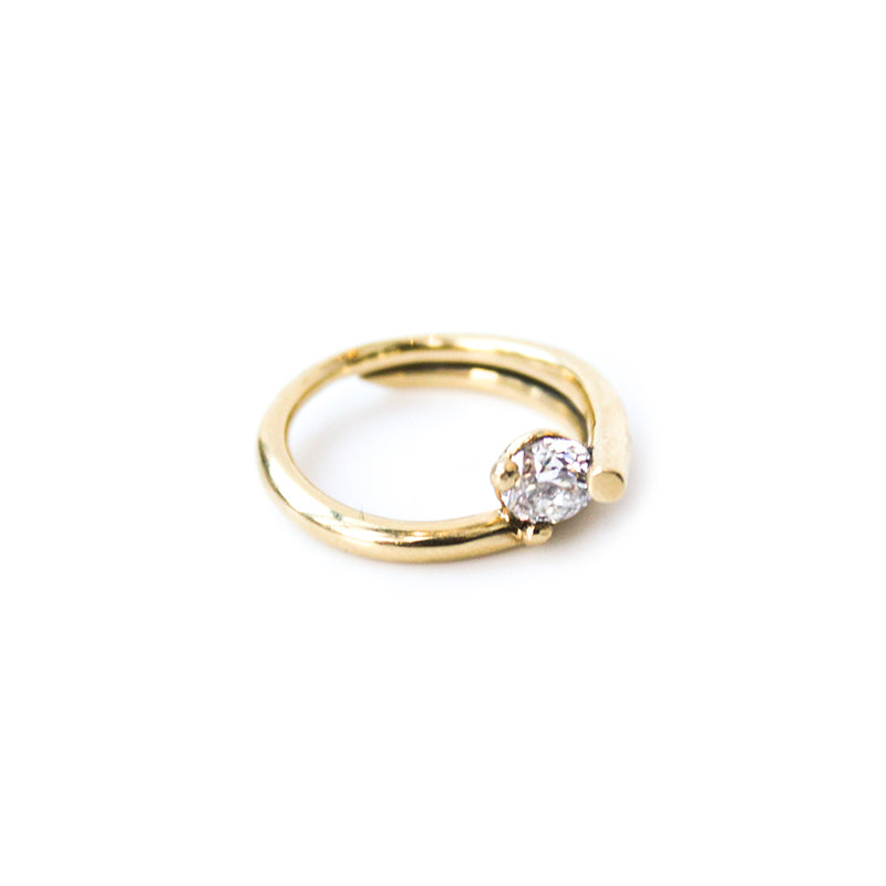 """Engagement"" 18K Gold Ring"