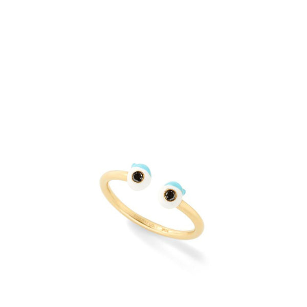 """Wire Ring with Eyes"" Ring"