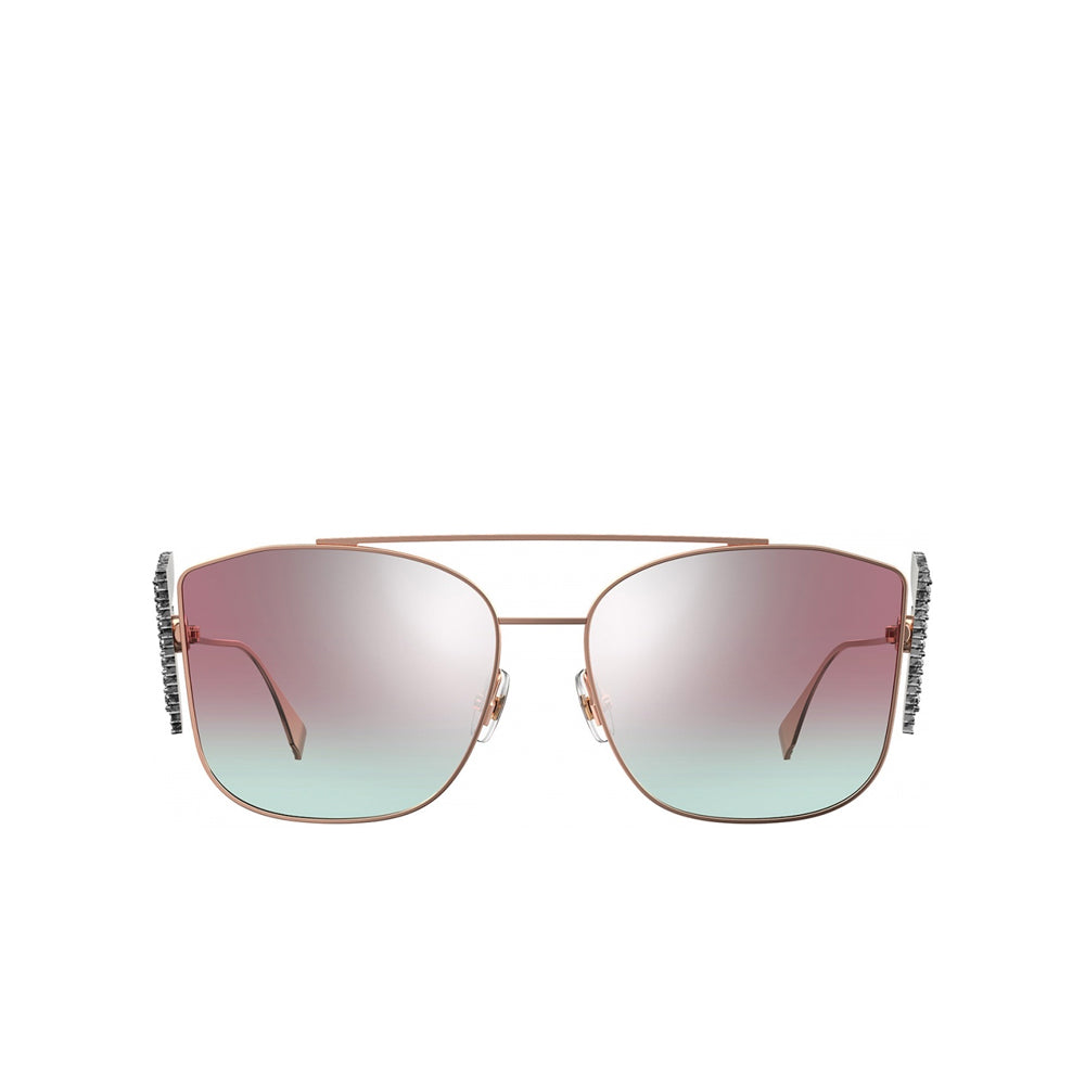 """FFREEDOM"" PINK MULTILAYER SUNGLASSES"