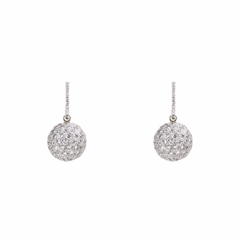 """Diamond Ball"" 18K Gold Earrings"