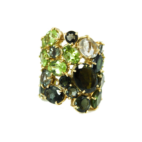"""Peridot"" 18K Gold Ring"