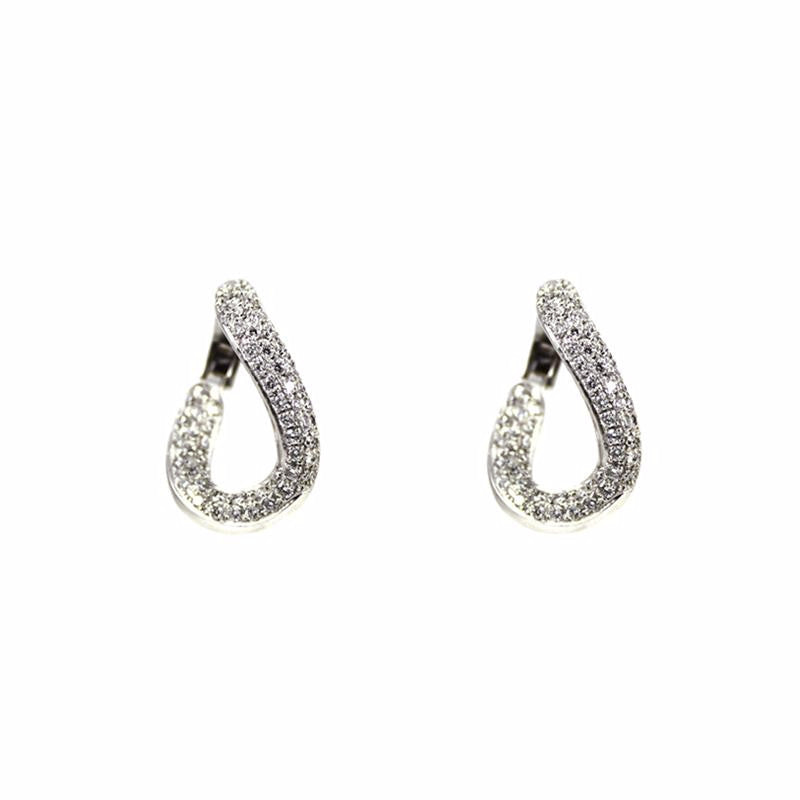 """Diamond Hoop"" 18K Gold Earrings"