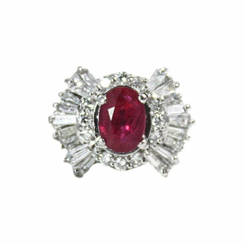 """Ruby Ballerina"" Platinum Ring"