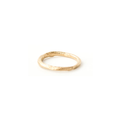 """Sliced"" 14K Gold Ring"