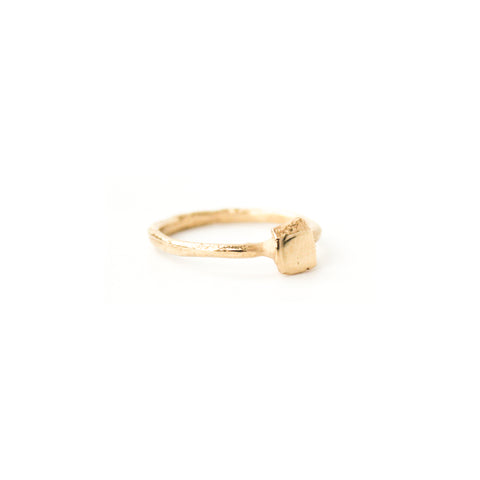 """Square Setting"" 14K Gold Band"