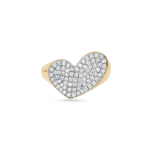 """HEART PENACHO DIAMONDS"" RING"