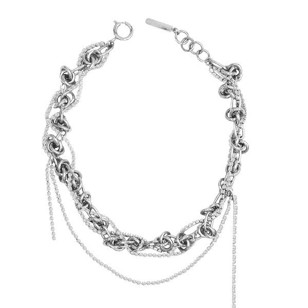 """HELEN CHOKER"" Palladium Necklace"